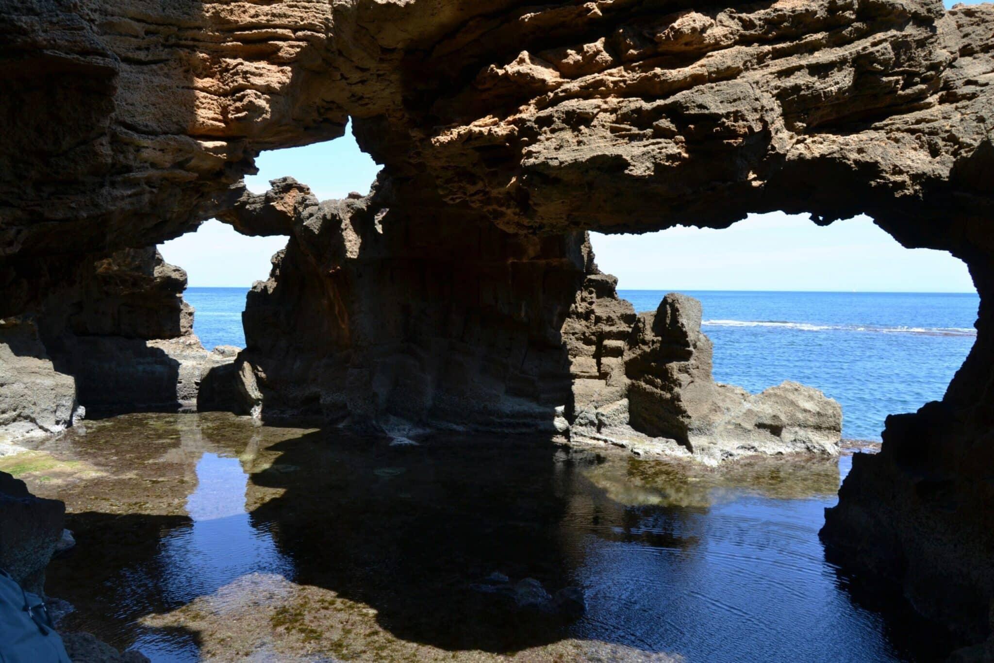 cova tallada arcos naturales